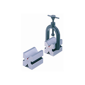 STEEL V BLOCK WITH CLAMP